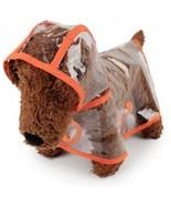 Dog Raincoat Transparent Waterproof Puppy Jacket Pet Rainwear Clothes F... - $19.37