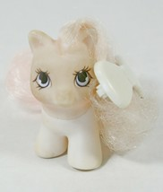 My Little Pony G1 Little Whiskers 1989 Hasbro Vintage White Pink Hair Clip Bow - $29.99
