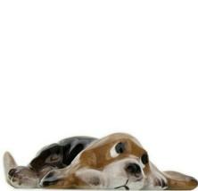 Hagen Renaker Dog Basset Hound Pup Lying Ceramic Figurine