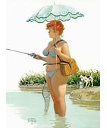 Vintage Hilda Plus Size Girl 1950's  Reproduction Print #142 - $24.95