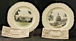 Collector's Plates White House and United States Capitol AA20-7199 Vintage