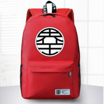 Dragon Ball King Kai Symbol Awesome Design School Backpack Red - $59.90