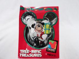 Disney Mickey Mouse  Santa Christmas Ornament E... - $14.84