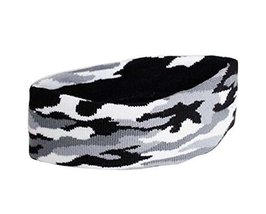 Camouflage Pattern Sports Yoga Hair Band Soft Cotton Thread Headband, GRAY - €9,03 EUR