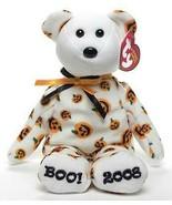 Carvers the Pumpkin Print Bear Boo! 2008 Ty Beanie Baby Retired MWMT Hal... - $19.75