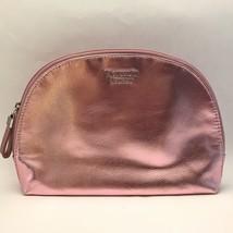 Victoria's Secret Pink Metallic Makeup Bag Case Beauty Travel Pouch Zipper - $15.83