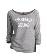 Thread Tank Mermaid Squad Women's Slouchy 3/4 Sleeves Raglan Sweatshirt ... - $24.99+