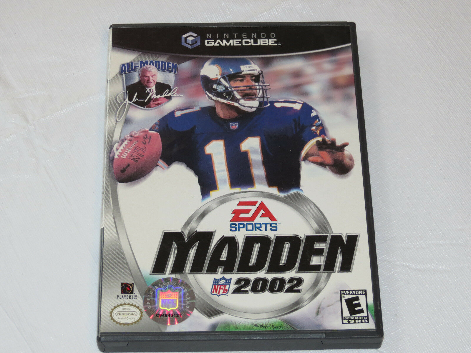 Enloquecer NFL 2002 Nintendo Gamecube 2001 Fútbol Videojuego E-Everyone 25481