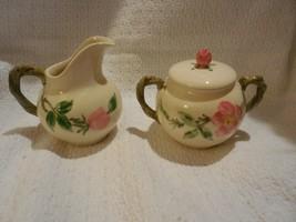 Franciscan Desert Rose: Creamer & Sugar Bowl with Lid -  Orginal Mark - $14.84
