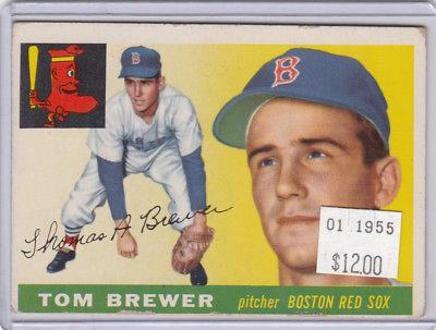 1955 Topps 83 Tom Brewer  Not Graded