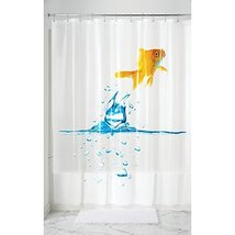 "InterDesign Finn Goldfish PVC-Free 5G PEVA Shower Curtain - 72"" x 72"", Multi Col - $19.99"