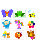 9 BabyFirsT Tv Peekaboo inspired Stickers,Party, Favors, Gifts,Labels,Bi... - $8.99