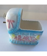 Collectible Ceramic Wind UP Baby Music Box - Multi Color - $15.00