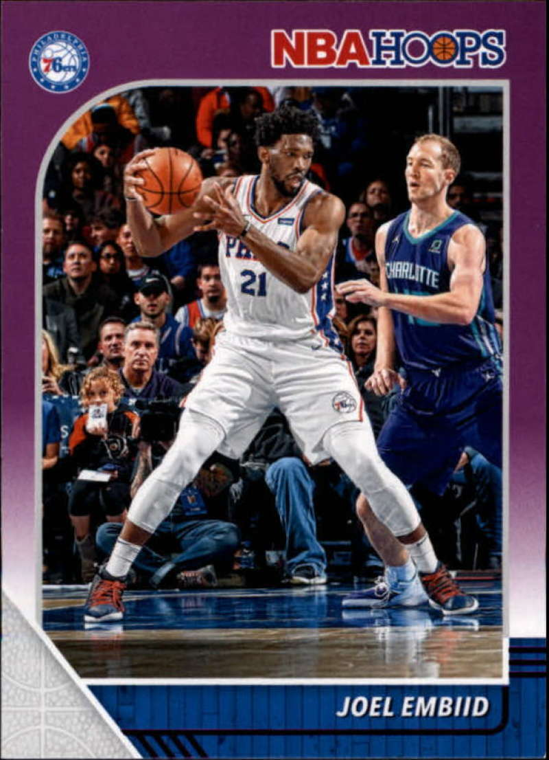 Primary image for 2019-20 Panini Hoops Purple #145 Joel Embiid 76ers