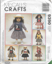 """McCall's Crafts Pattern #9390-Jumper-Blouse-Top With Six Appliques For 18"""" Doll - $5.86"""