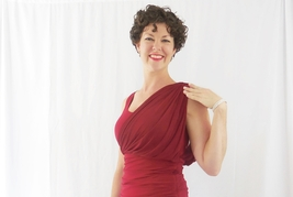 Red Hollywood Dress with Wrap Detailing, Formal Red Party Dress, Red Wrap Dress image 5
