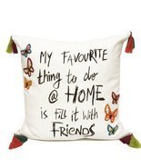 Fennco Styles Fun Inspirational Embroidered And Tasseled Decorative Thro... - $54.44