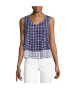 Liz Claiborne Sleeveless V-Neck Woven Layered Blouse Size PL, PXXL New - $16.99