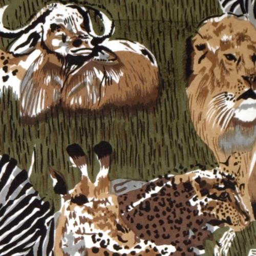 Pillow Decor - Safari Print Cotton Large Throw Pillow