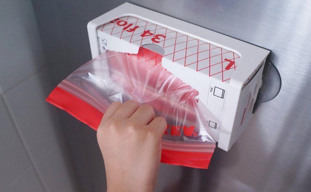 IKEA RED ISTAD 60 Pieces Plastic Bag~Ziplock Bag~Food Storage~Snack Bag