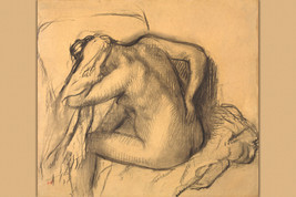 Degas After the Bath Woman Drying Her Hair 1892 Fine Art Print - $26.72+