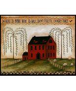 Spirit, Grace Country Place Folk Art Sampler Pr... - $4.75
