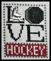 Love Hockey Love Bits cross stitch chart Hinzeit - $6.00
