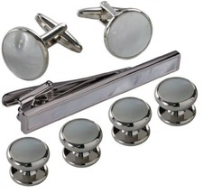 blackbox Jewelry Cufflink and Studs Set for Men with Gift Box - $16.84