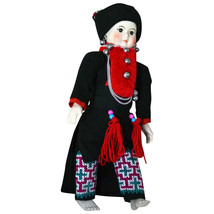 "13 1/2"" Yao Hill Tribe Doll of Thailand by Vanida S Mongkhon - $189.99"