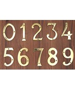 "4"" Brass House Hotel Door Number  Numeric Numerical Digit 0-9 Polished B... - $21.99"
