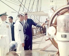 President John F. Kennedy inspects USCGC Coast Guard ship Eagle - New 8x... - $6.61