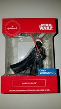 Hallmark ornament disney star wars darth vader santa hat new in box chri... - $20.95