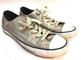 CONVERSE All Star gold leather low top sneakers 9 FREE SHIP! - $31.63