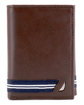 Nautica Men's Genuine Leather Credit Card Id Holder Trifold Wallet image 14