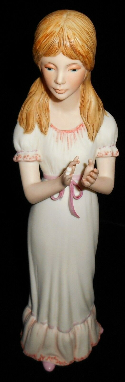 Porcelain Bisque CYBIS FIGURINE - EDITH Pink Accents CHILDRENS STORY HOUR As Is