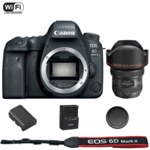 Canon EOS 6D Mark II DSLR Camera Body with EF 11-24mm f/4L USM Lens - $3,616.82