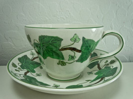Wedgwood Napoleon Ivy Green Cup and Saucer Set - $20.19