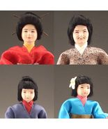 SALE Doll House Shoppe Dressed Asian Family of 4 Caco Flexible Japan Min... - $159.88