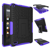"""Rugged Hybrid Protective With KickStand Case For Amazon Fire 7"""" 2015 - P... - $18.98"""