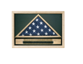 MEMORIAL CASKET US FLAG CASE WITH CARTRIDGE BELT  - $531.99