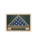 MEMORIAL CASKET US FLAG CASE WITH CARTRIDGE BELT  - $531.99