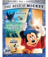 Fantasia, Fantasia 2000, Celebrating Mickey Blu-ray + DVD + Digital Code NEW - $37.94