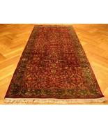 Burgundy Gallery Handmade 4x10 Jaipur Wool Excellent rug - $1,668.90