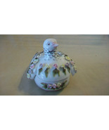 COLORFUL CERAMIC DOVE WITH REMOVABLE TOP FOR CANDY OR TRINKETS - $29.70