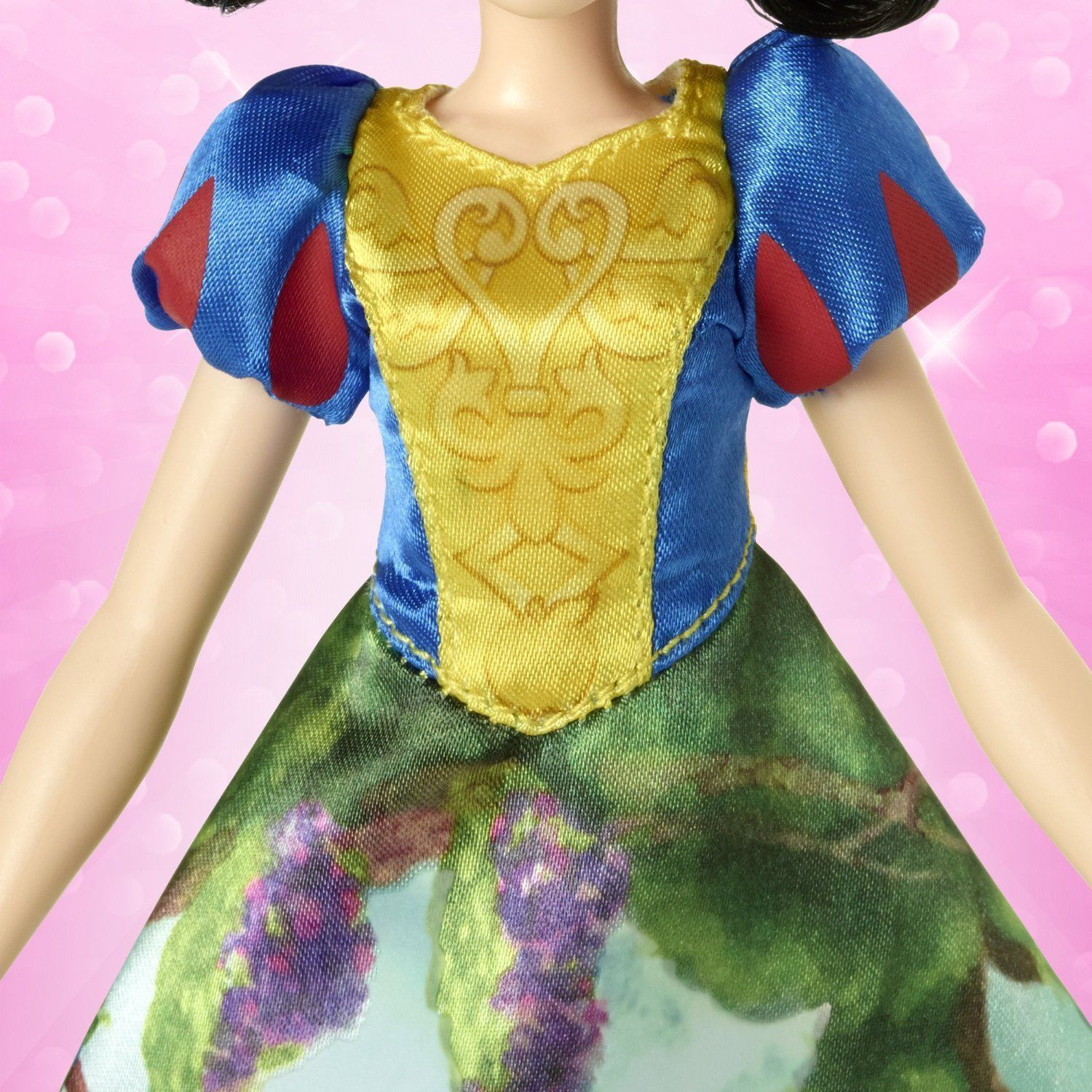 Image 4 of Disney Princess Snow White Magical Story Skirt Doll in Blue, Yellow by Hasbro