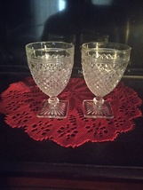 2 Anchor Hocking Miss America Pattern small goblets. - $25.00