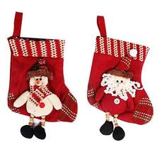 Panda Superstore 2 Pieces Christmas Stockings/Stocking For Decorations, Random S