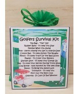 Golfers Survival Kit - Unique Fun Novelty Gift & Card All In One - $6.74