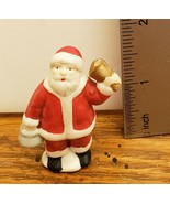 Mini Christmas Village Accessory Santa with Bell & Kettle Salvation Army... - $6.92