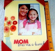 Mother Child Picture Frame 4 x 6 Photograph Mom Loves Me A Bunch Gift Of... - $15.83